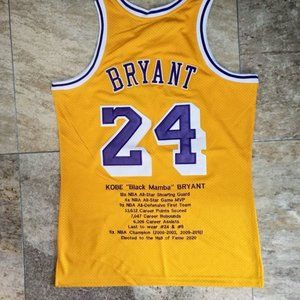 Los Angeles Lakers Kobe Bryant #24 Gold Jersey